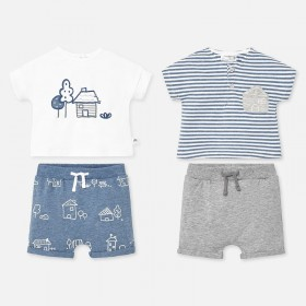 Set tricouri si pantaloni scurti bebe baiat  MAYORAL myset10p